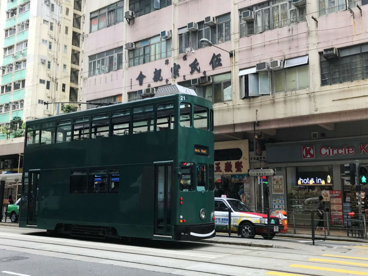 Tram on Hong Kong Island Photo: Facebook, Hong Kong Tramways