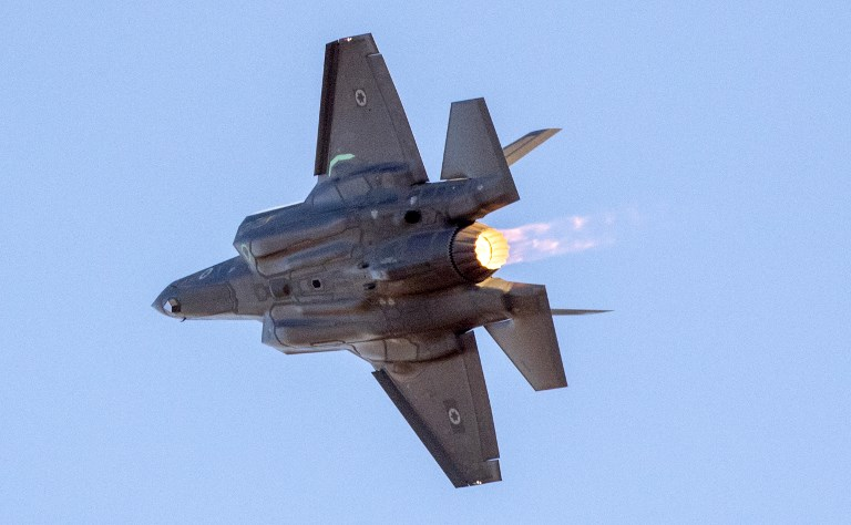 An Israeli Air Force F-35 Lightning II fighter. Photo: AFP/Jack Guez