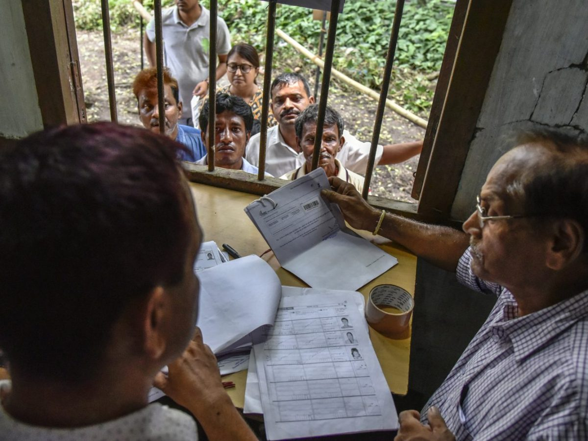 Final Draft of National Register of Citizens of India (NRC) released on July 30, 2018. People wait to check their names on the final draft of the National Register of Citizens in Guwahati, Assam, India on Monday. (Photo by David Talukdar/NurPhoto)