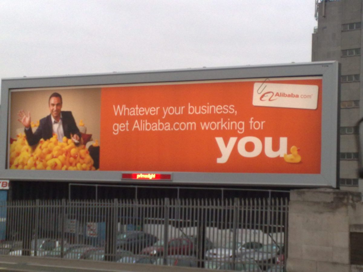 An advertisement of Alibaba.com. Photo: Flickr