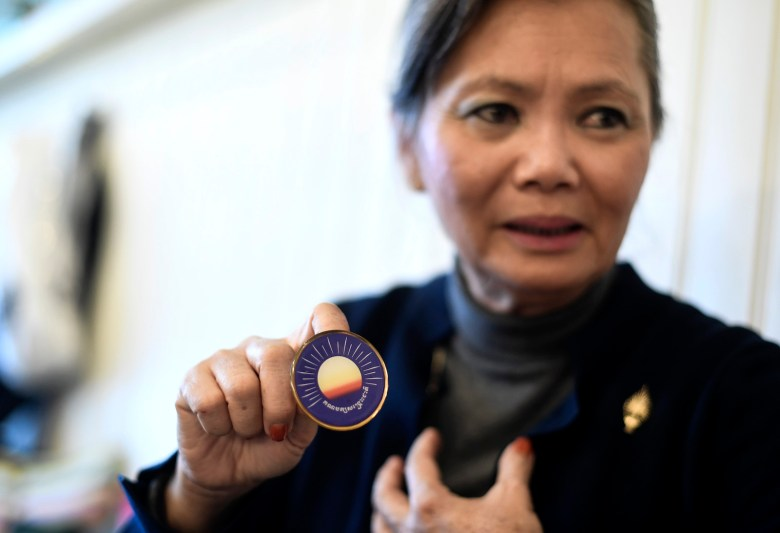 STOCKHOLM 20171121 ***FILE***Mo Sochua politician from Cambodia.Her party CNRP has been banned and she has been deprived of her place in parliament. Photo: Pontus Lundahl / TT / kod 10050