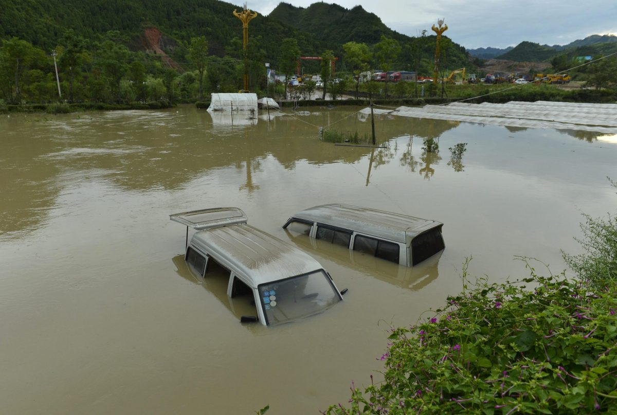 Floods in Guizhou province in June, 2018. Recent heavy rains across China are said to have effected Bitcoin mining operations. Photo: AFP