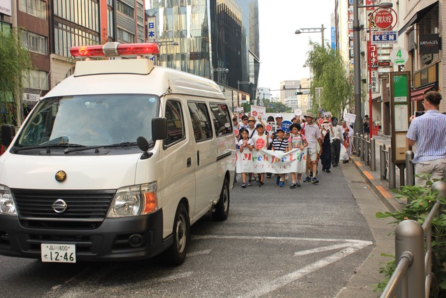 Pro-life marchers in Tokyo braved heat and indifference. Photo: Neil Day