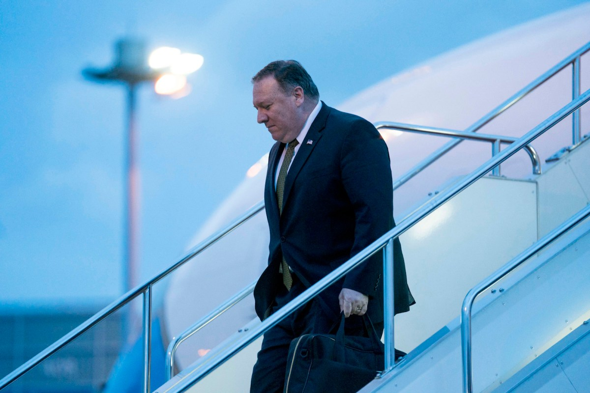 US Secretary of State Mike Pompeo arrives at Haneda Airport in Tokyo. Photo: AFP / Andrew Harnik