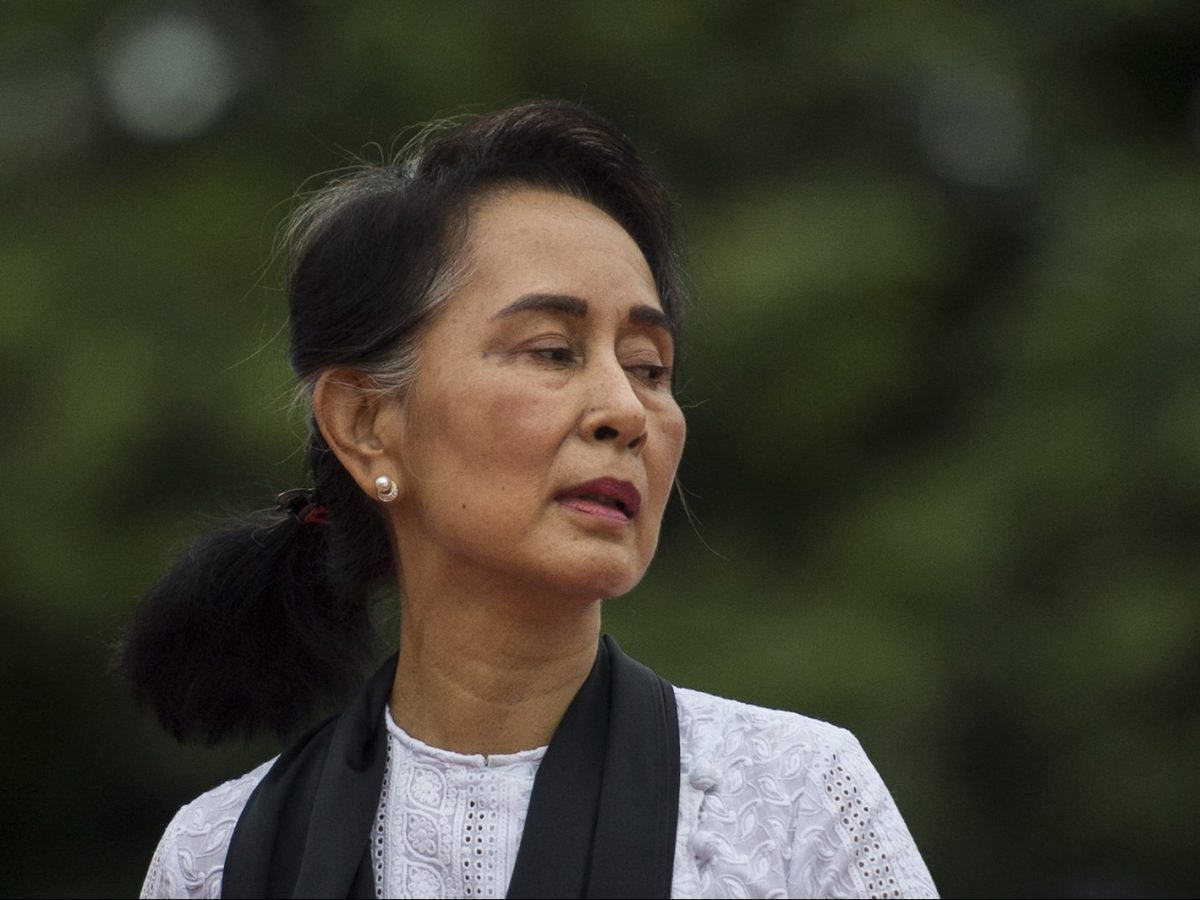 Myanmar State Counsellor and Foreign Minister Aung San Suu Kyi leaves after paying her respects to her late father during a ceremony to mark the 71th anniversary of Martyrs' Day in Yangon on July 19, 2018.Photo: AFP/Ye Aung Thu