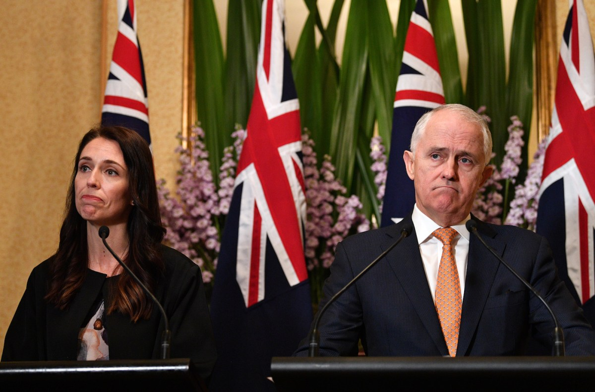 New Zealand Prime Minister Jacinda Ardern and her Australian counterpart Malcolm Turnbull at a press conference in Sydney, November 5, 2017.  Photo: AFP/Saeed Khan