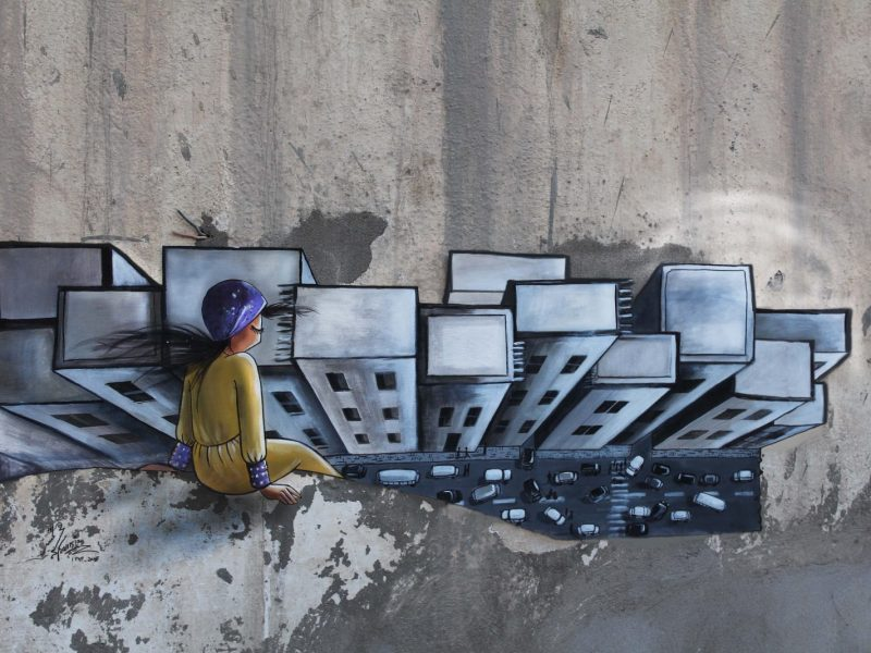 Once Upon a Time, an image by Afghan graffiti artist Shamsia Hassani. Photo: Supplied