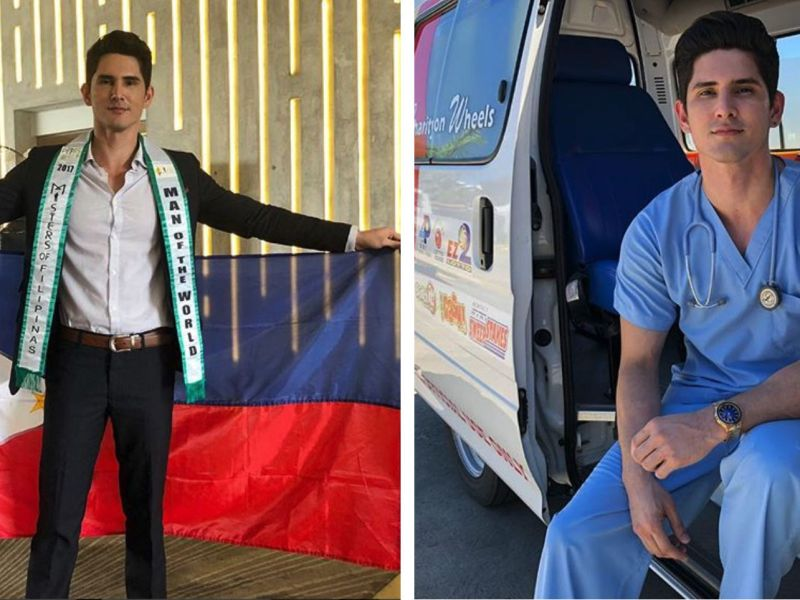 Clint Karklins Peralta represented the Philippines and took home first runner-up at the Man of the World Pageant 2018. Photo: Instagram@clintoris7