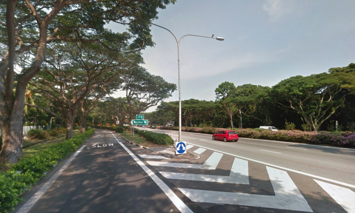 The intersection into Bayshore Road from East Coast Parkway in Singapore. Photo: Google Maps