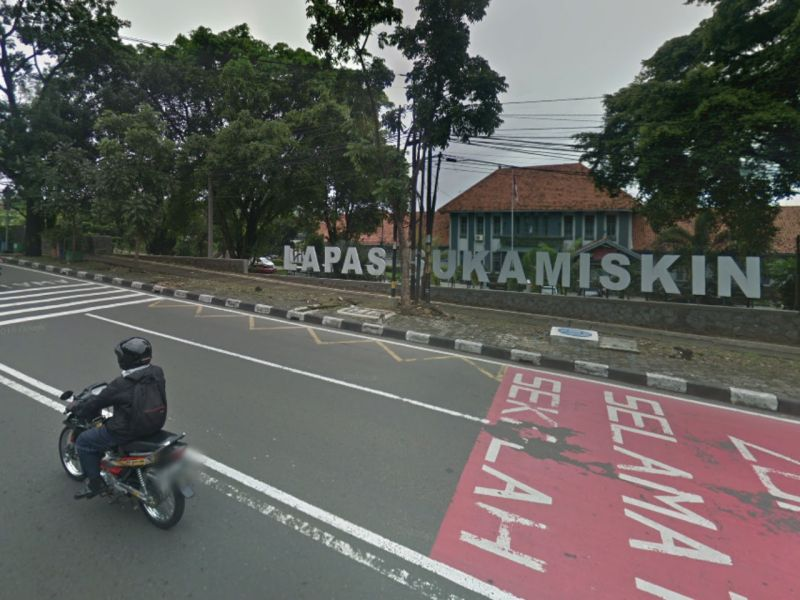 Sukamiskin prison in Bandung, West Java, in Indonesia. Photo: Google Maps