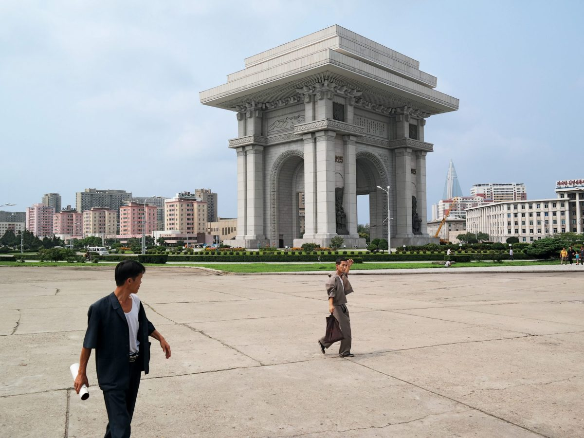The Arch of Triumph in Pyongyang. Photo: Oliver Wainwright