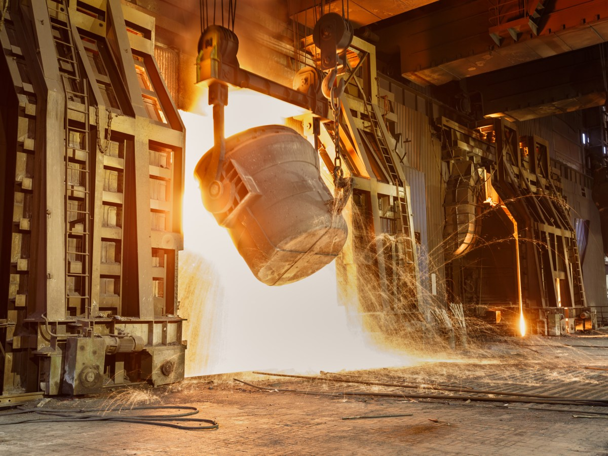Metal smelting furnace in Chinese steel mills. Photo: iStock