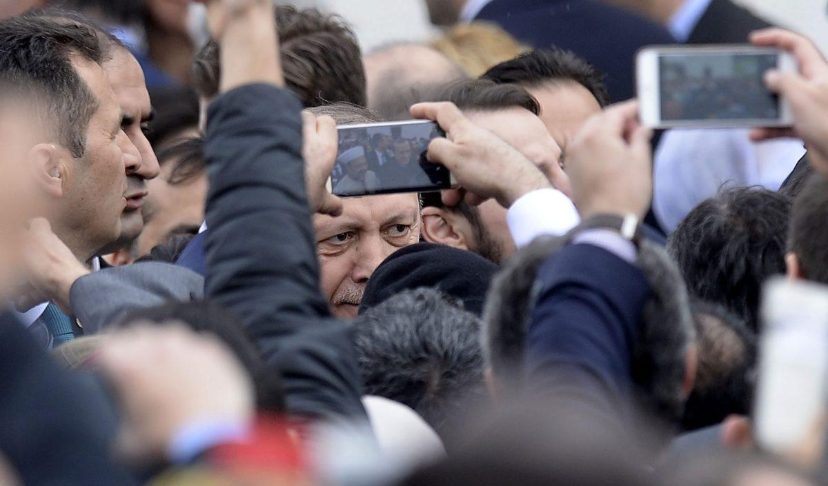 الرئيس التركي رجب طيب أردوغان  الصورة: ا ف ب