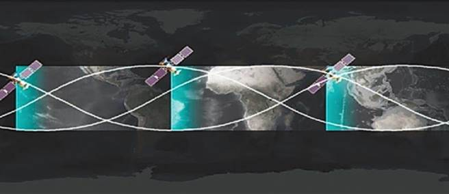 A illustration of the trajectory of a Chinese earth observation satellite. Photo: Handout