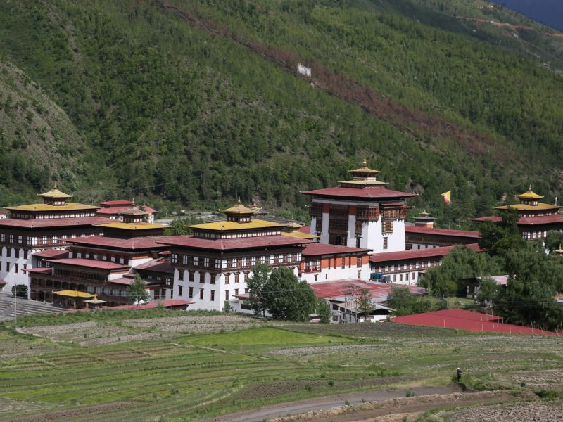 Tashichho Dzong, a fortress that serves both as a government department and Buddhist monastery in Thimphu, Bhutan. Photo: AFP/The Yomiuri Shimbun