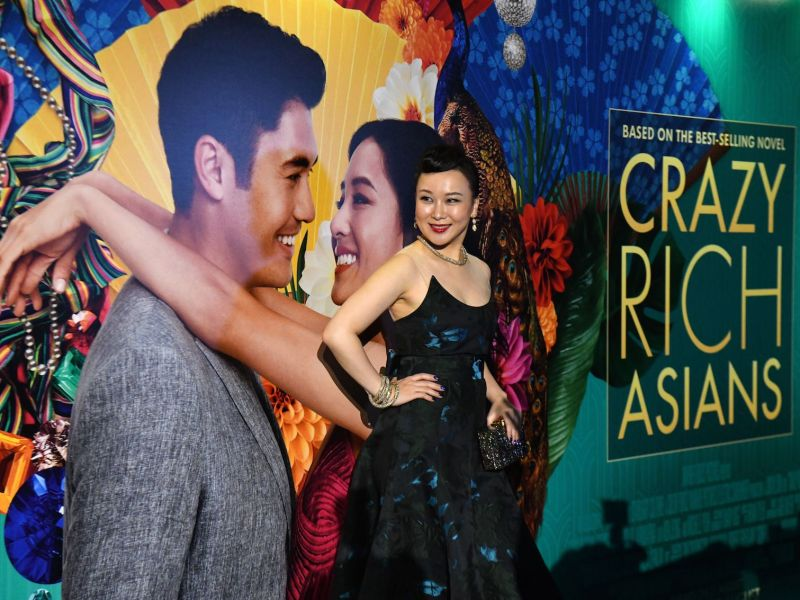 Chinese actress Jasmine Chen poses at the premiere of the film 'Crazy Rich Asians' at the Capitol Theatre in Singapore on August 21, 2018. Photo: AFP / Roslan Rahman