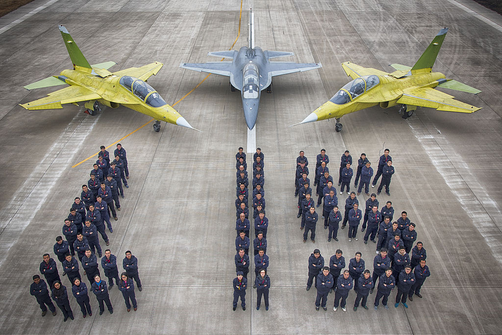 The L-15 jet trainers. Photo: Peng Chen/Wikimedia