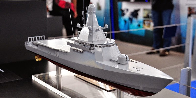 A model of a Chinese littoral mission ship. Photo: Xinhua