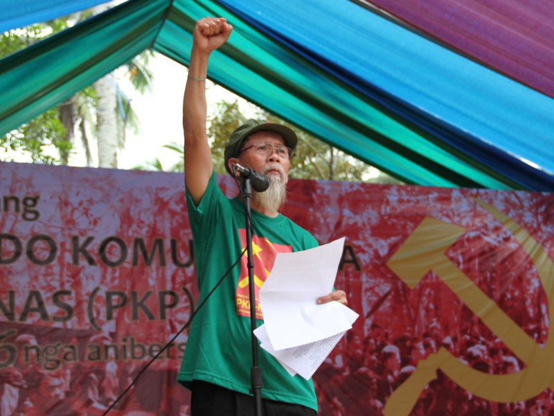 A Filipino member of the communists' armed wing, the New People's Army (NPA) in a remote village on the southern island of Mindanao in a file photo. Photo: AFP/Stringer