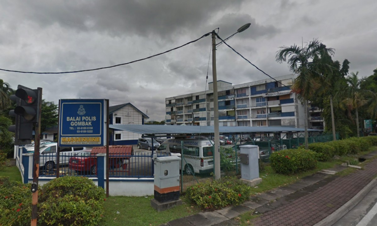 Gombak Police Station, Gombak, Kuala Lumpur, Selangor, Malaysia. Photo: Google Maps