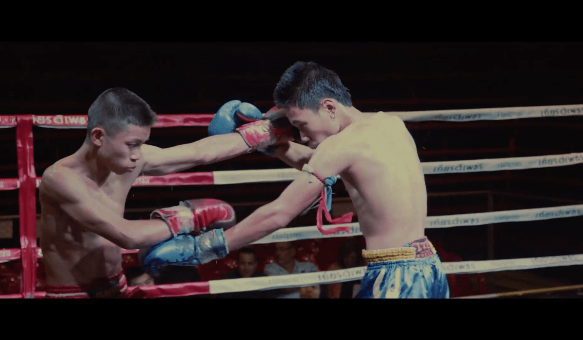 Two young Muay Thai fighters go at it in Marko Randelovic's new short film 'Fighter'. Photo: Screen-grab