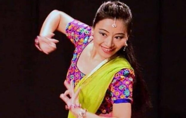 Sun Chi in one of her Kathak stage performances. Photo: Supplied