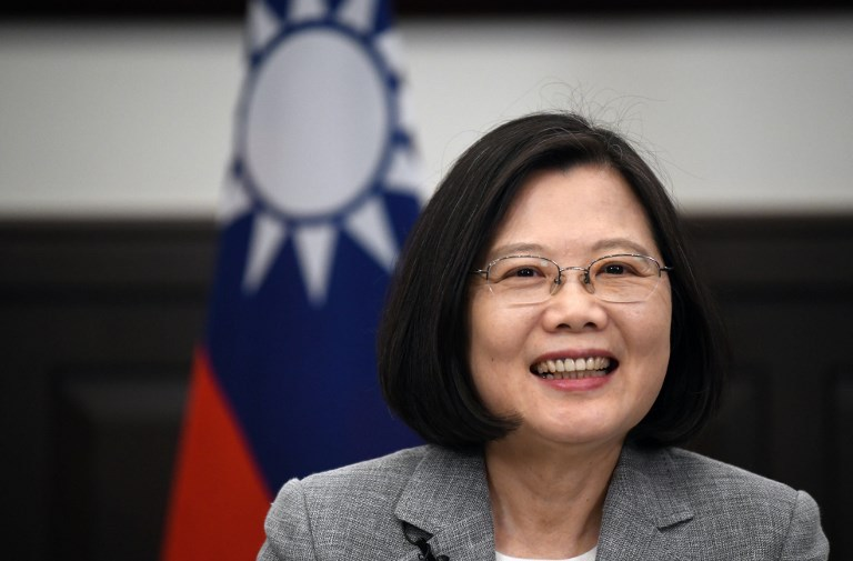 Taiwanese President Tsai Ing-wen takes part in an interview with AFP at the Presidential Office in Taipei on June 25, 2018. Photo: AFP / Sam Yeh