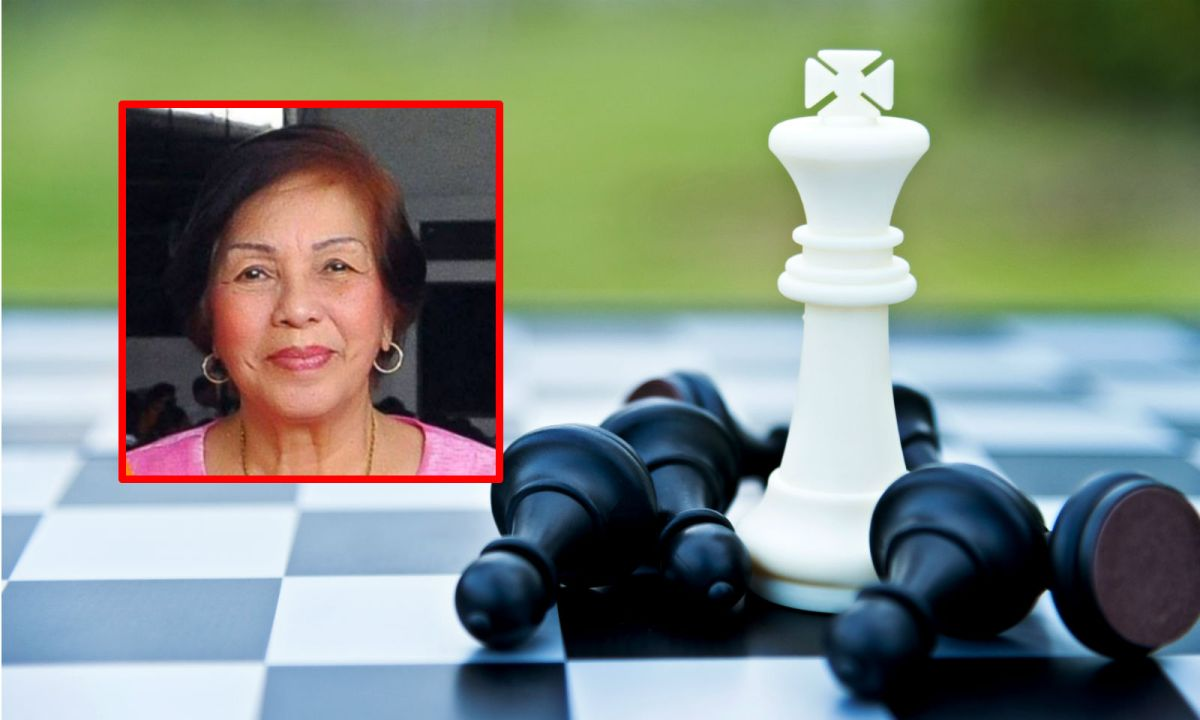 """Rosario """"Charito"""" Bandal (inset) was one of the top female chess players in the Philippines. Photos: Facebook, iStock"""