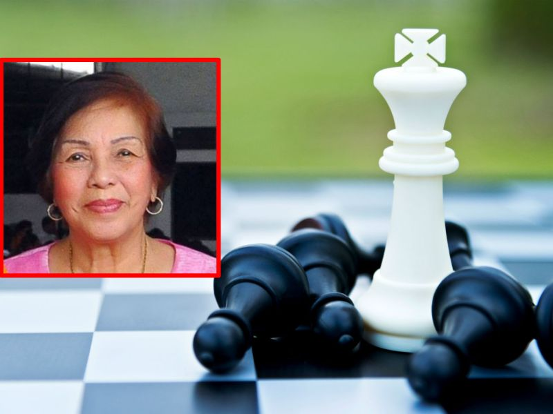 "Rosario ""Charito"" Bandal (inset) was one of the top female chess players in the Philippines. Photos: Facebook, iStock"