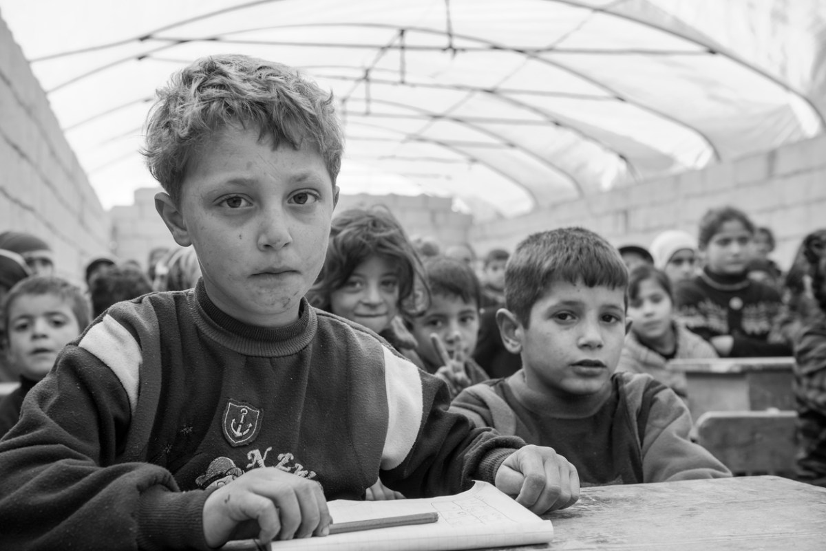 Children at Syrian displacement camps have been recruited by a US-backed coalition fighting ISIS, Human Rights Watch alleges. Representational image: iStock