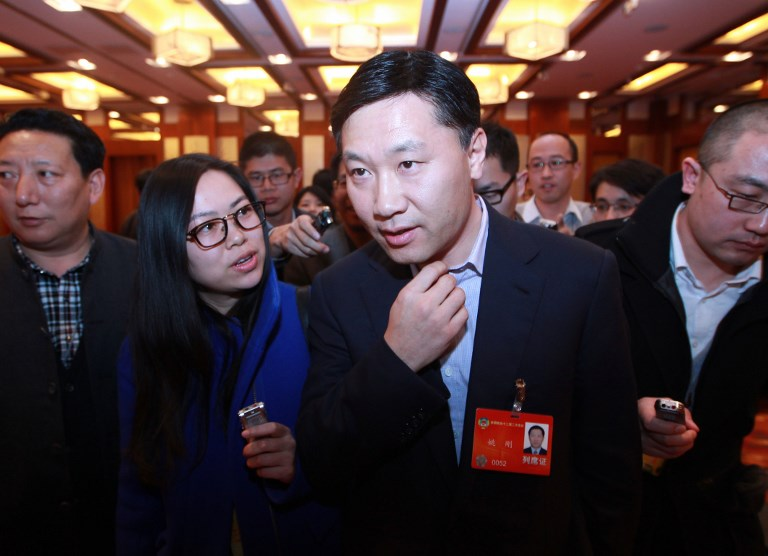 Yao Gang, former vice-chairman of China Securities Regulatory Commission. Photo: AFP