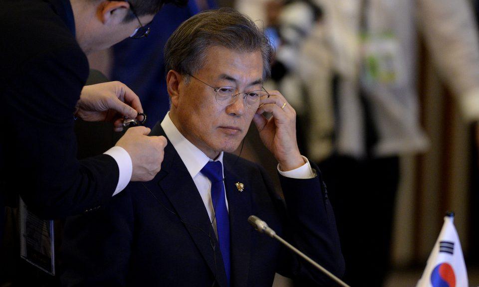 南韓總統文在寅在與北韓的會談中有自己的議程。相片:Reuters / Noel Celis