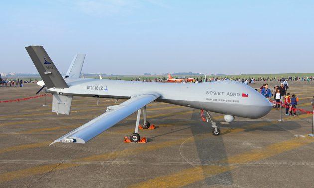 一架對外展示的騰雲戰鬥無人機。相片:Handout