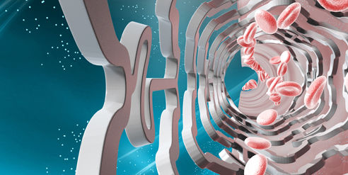 An artist's rendering of the drug-eluting stent. Photo: Handout