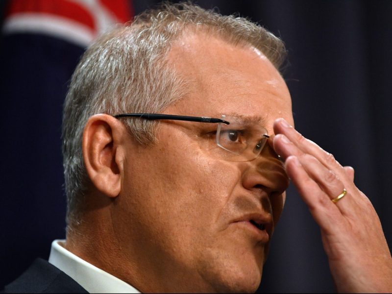 Australia's incoming Prime Minister Scott Morrison speaks at a press conference in Canberra on August 24, 2018. Photo: AFP/Saeed Khan