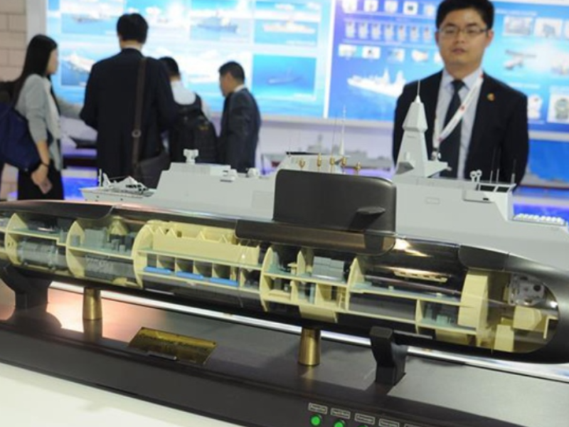 A model of the S26T submarine on display. Photo: Handout