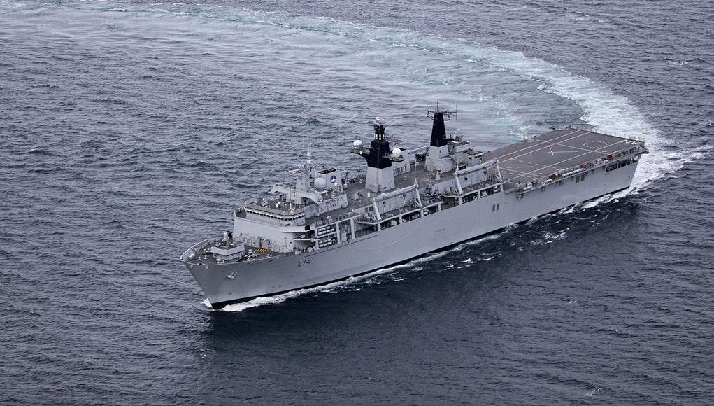 A file photo of HMS Albion. Photo: Royal Navy