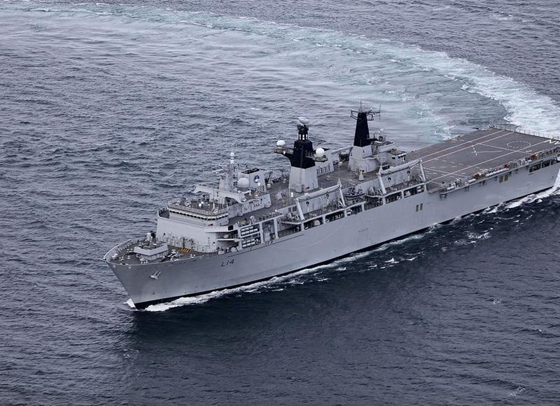 A file photo of HMS Albion. Photo: Royal Navy