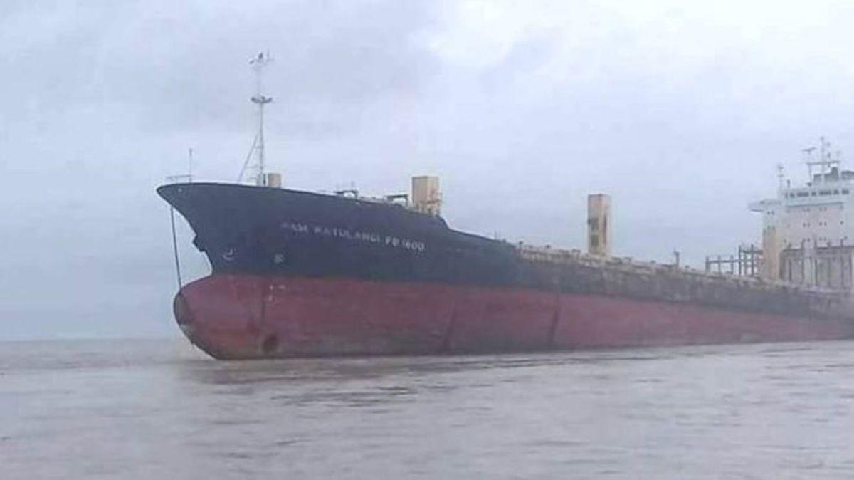 The Sam Ratulangi PB 1600 was found drifting off the coast of Myanmar. Photo: Yangon Police / Facebook