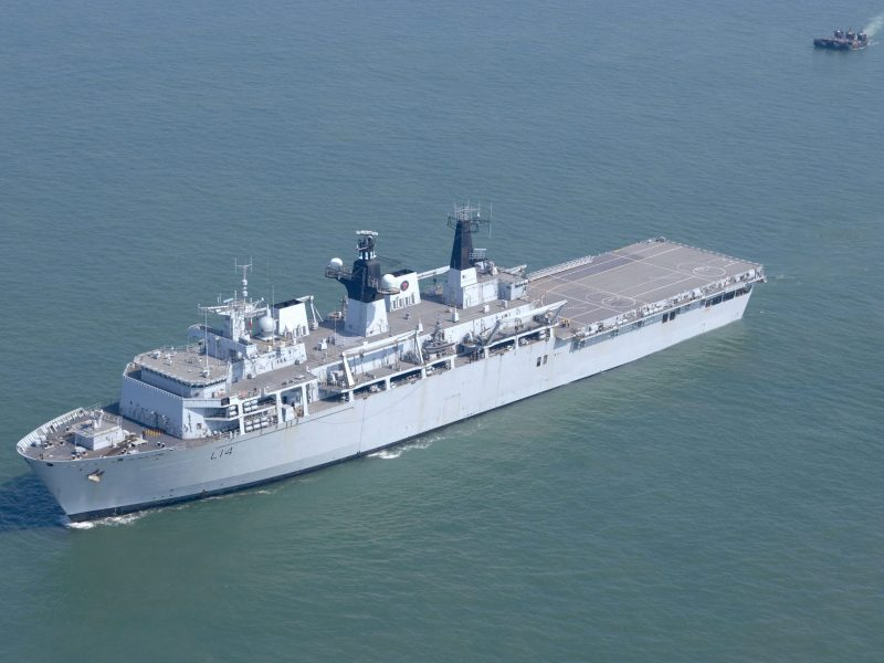 A file photo of the HMS Albion. Photo: Royal British Navy