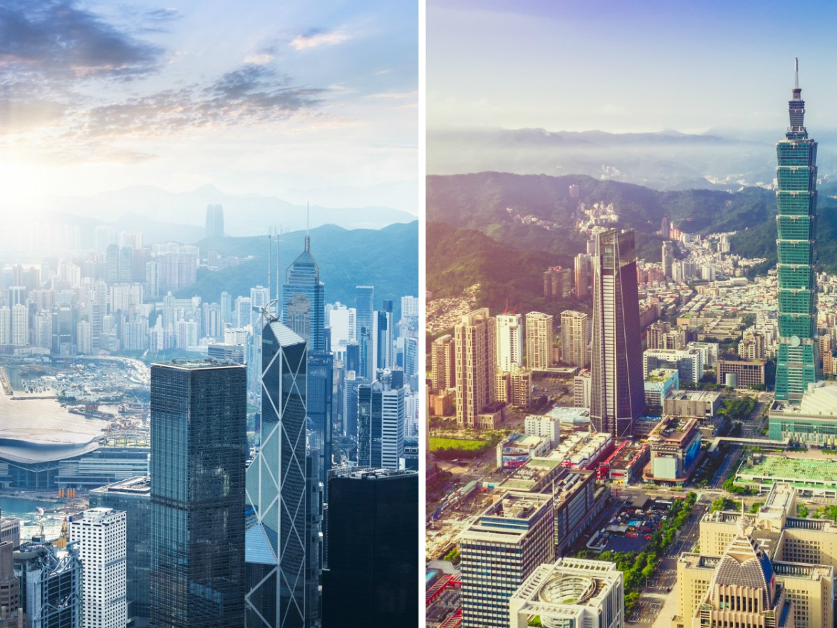 Many expatriates think Taiwan (right) is a better place to live than Hong Kong. Photo: iStock