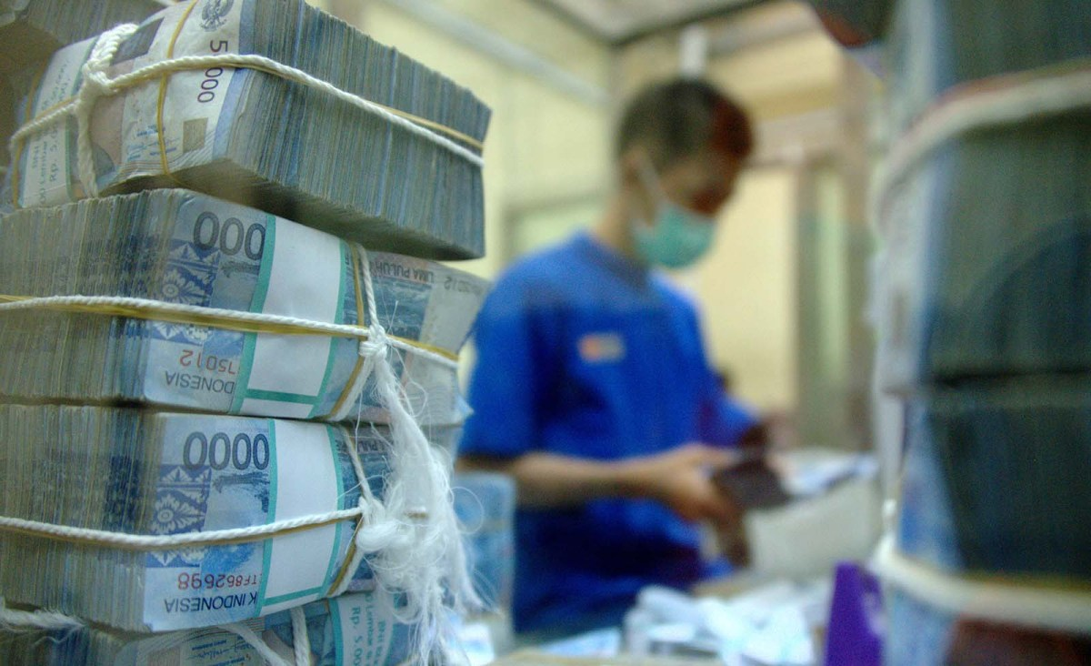 The Indonesia rupiah is near a 20-year low. Photo: AFP / Bay Ismoyo