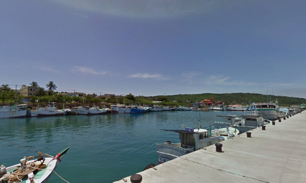 Dafu Fishing Harbor, Liouciou, Taiwan. Photo: Google Maps