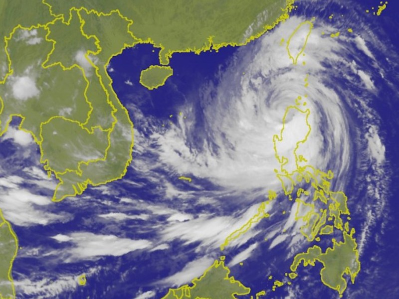 Super Typhoon Mangkhut barrels across the Philippines on Saturday. Photo: Taiwan's Central Weather Bureau