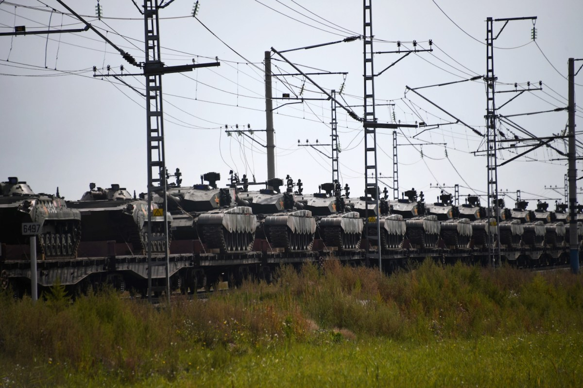 Chinese military hardware on its way to Vostok 2018 military exercises at Zabaikalsk unloading station. Photo: AFP/Evgeny Yepanchintsev/Sputnik