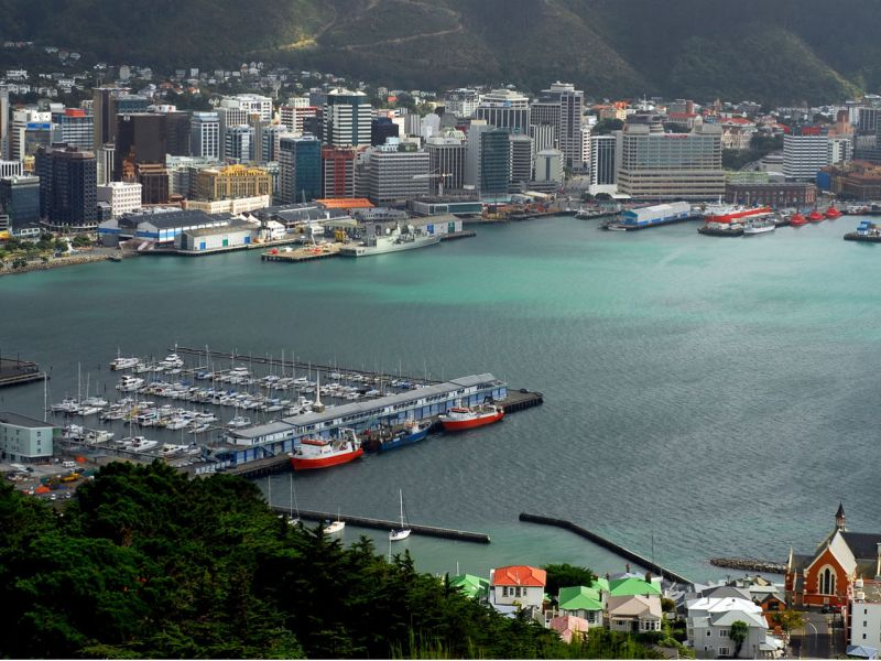 Wellington in New Zealand where many foreign students go to study. Photo: Wikimedia Commons