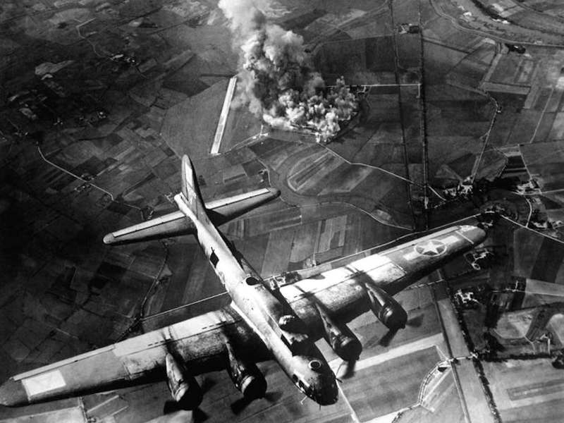 Unleashing hell, an American bomber during the Allies arial campaign against Germany in World War II. Photo: Shutterstock / Everett Historical