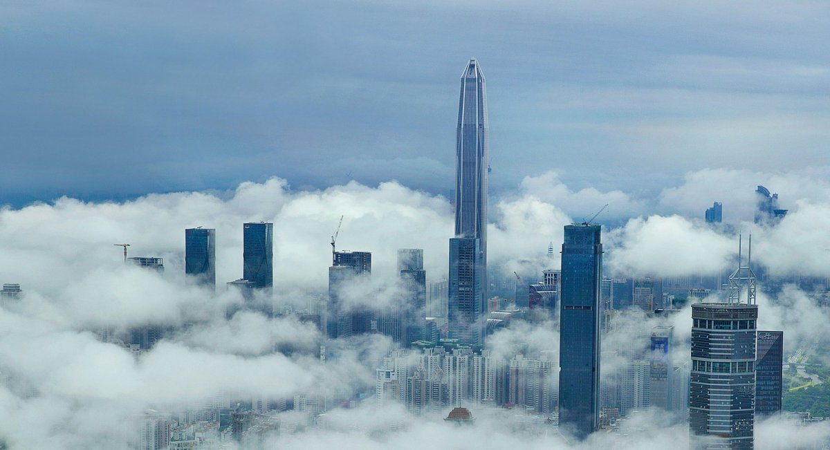 The 600-meter, 115-story Ping An Finance Center in Shenzhen, southern China. Photo: Xinhua