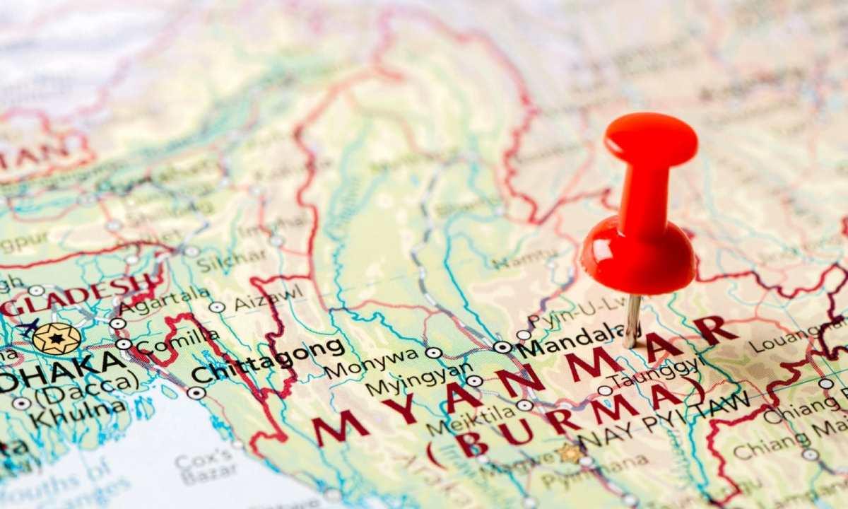 緬甸地圖。相片:iStock