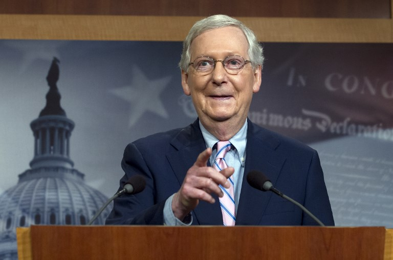 US Senate Majority Leader Mitch McConnell. Photo: AFP